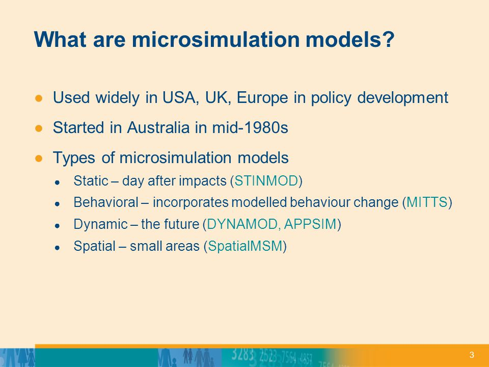 4 Why microsimulation models.