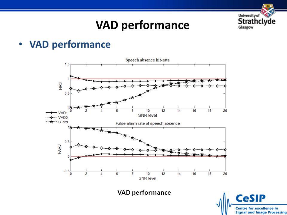 VAD performance