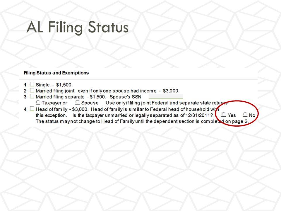 AL Filing Status