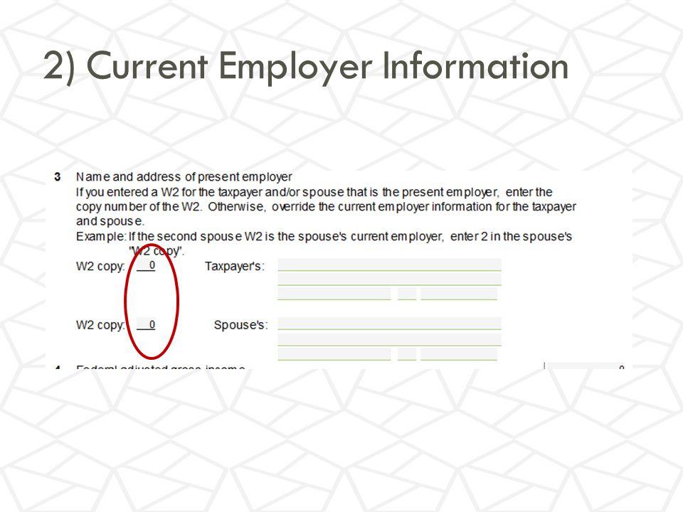 2) Current Employer Information