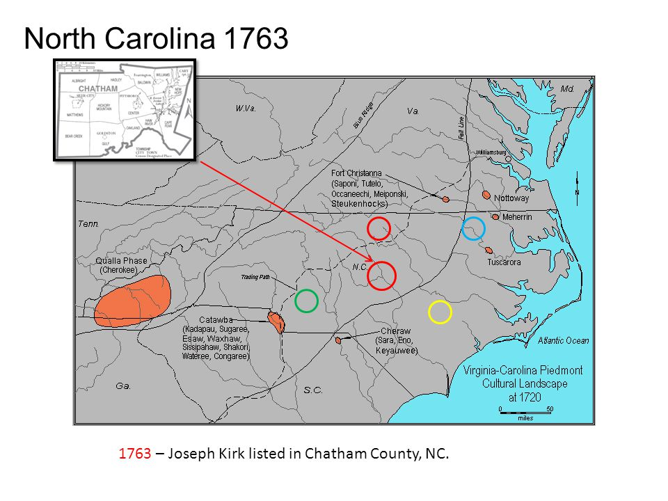 1755 – Joseph Kirk listed in Granville County, NC.