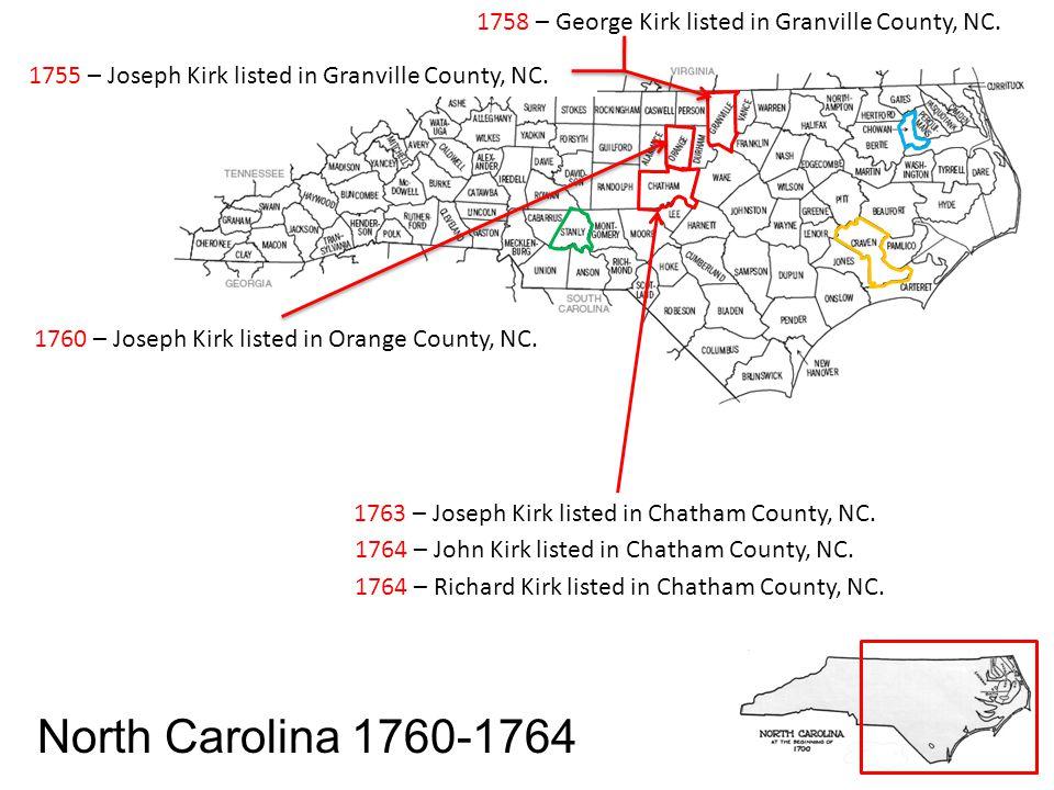 Georgia 1804 John Kirk – Jackson John Kirk Sr.– Jackson John Kirk Jr.