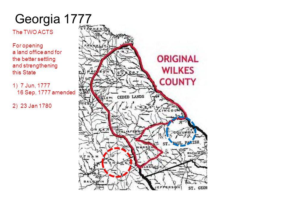 Georgia 1785 1785 – John Kirk Head Right Renewed 200 acres Washington County, GA.
