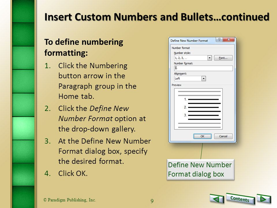 © Paradigm Publishing, Inc.40 1)The Header button is located in this tab.