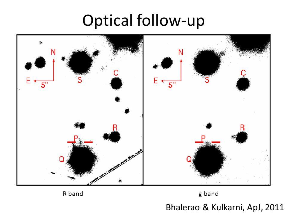 Optical follow-up R bandg band Bhalerao & Kulkarni, ApJ, 2011