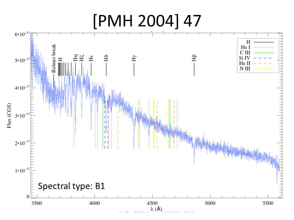 [PMH 2004] 47 Spectral type: B1