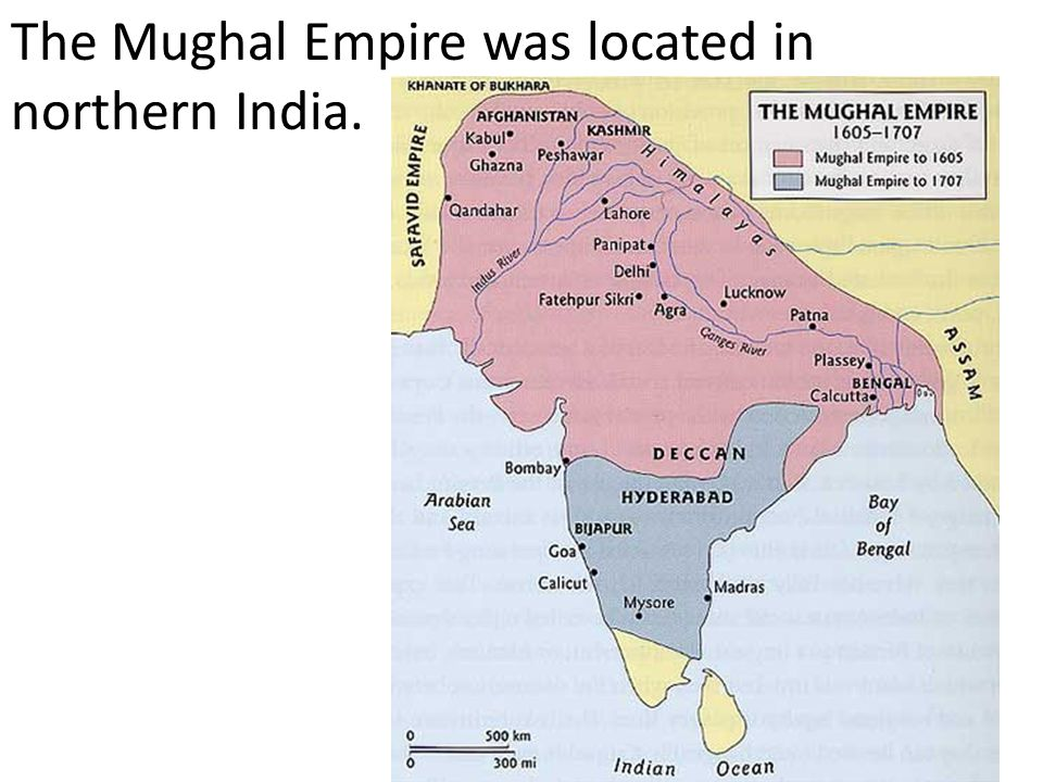 The Mughal Empire was located in northern India.