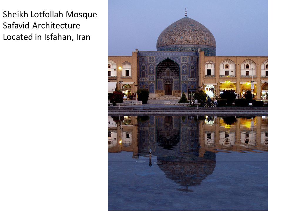 Sheikh Lotfollah Mosque Safavid Architecture Located in Isfahan, Iran