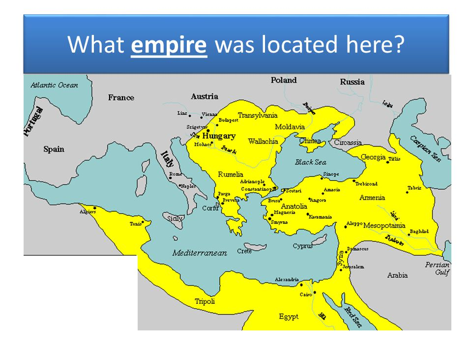 What empire was located here?