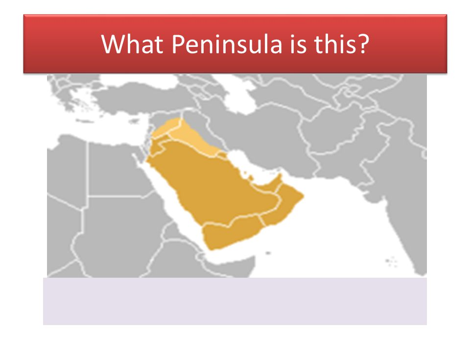 What Peninsula is this?