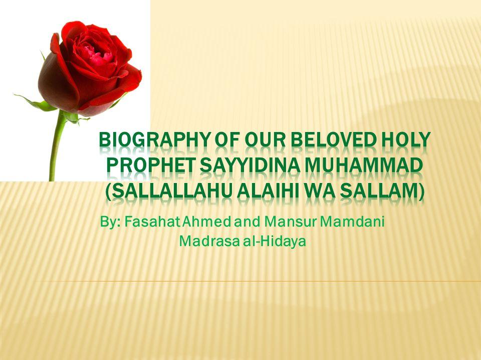 By: Fasahat Ahmed and Mansur Mamdani Madrasa al-Hidaya