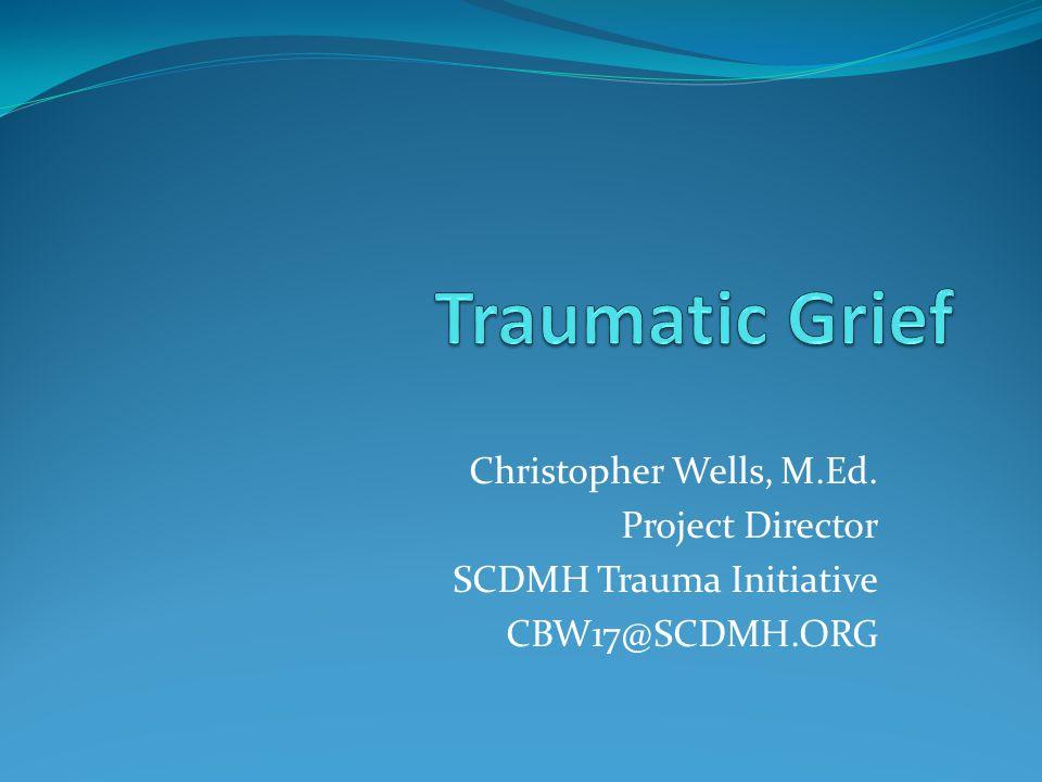 Christopher Wells, M.Ed. Project Director SCDMH Trauma Initiative CBW17@SCDMH.ORG