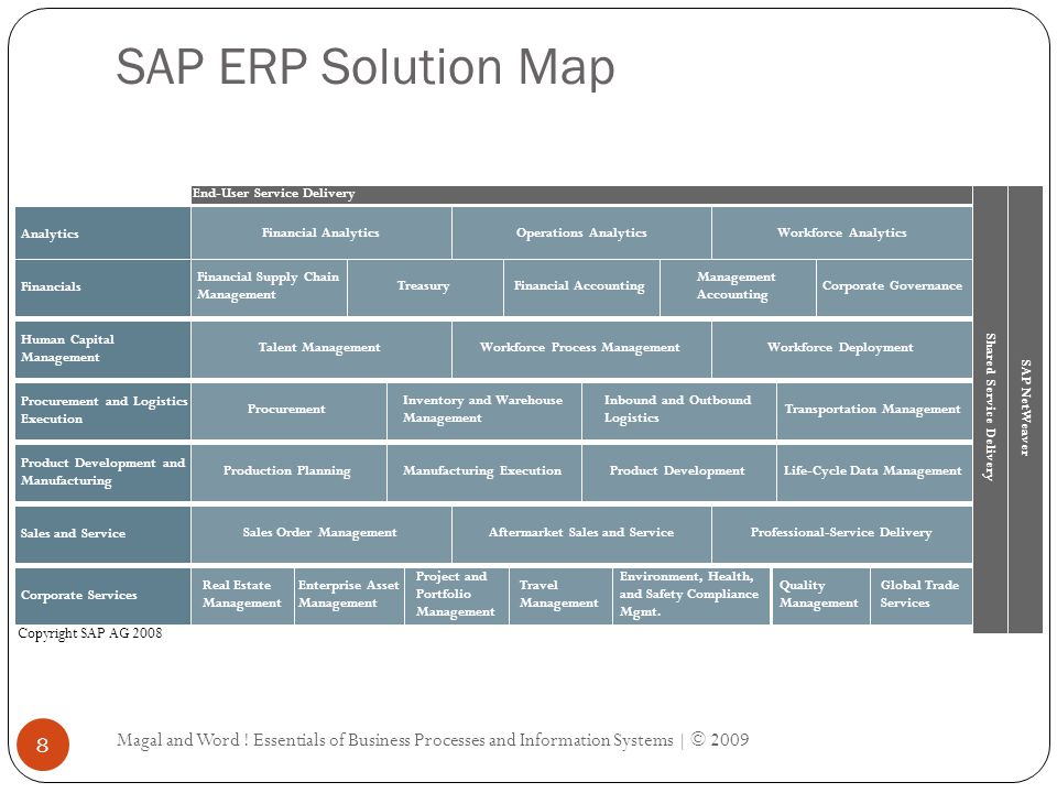 SAP ERP Solution Map Magal and Word .