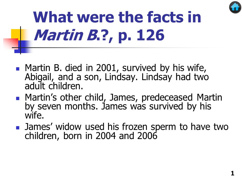 What were the facts in Martin B.?, p. 126 Martin B.