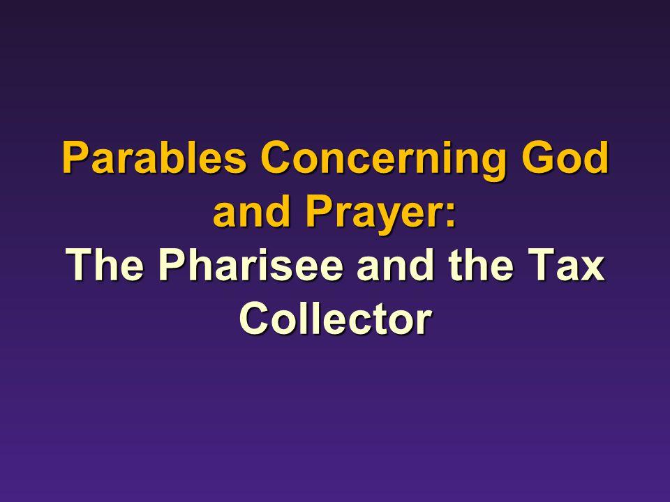 Parables Concerning God and Prayer