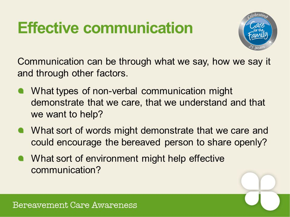 Effective communication Communication can be through what we say, how we say it and through other factors. What types of non-verbal communication migh