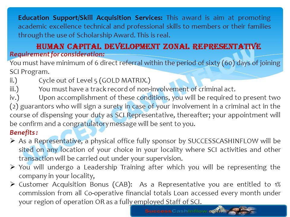 SUCCESS CASH INFLOW Level 4 Positions Range No.