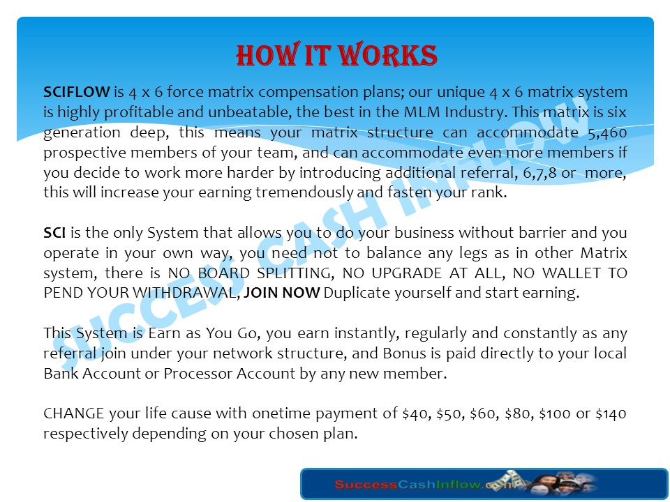 SUCCESS CASH INFLOW 2. BASIC LOAN: This Loan is given to CLASSIC, PREMIUM, and EXECUTIVE SUCCESSCASHINFLOW Members. Maximum Loan is $5,000 (Five thous