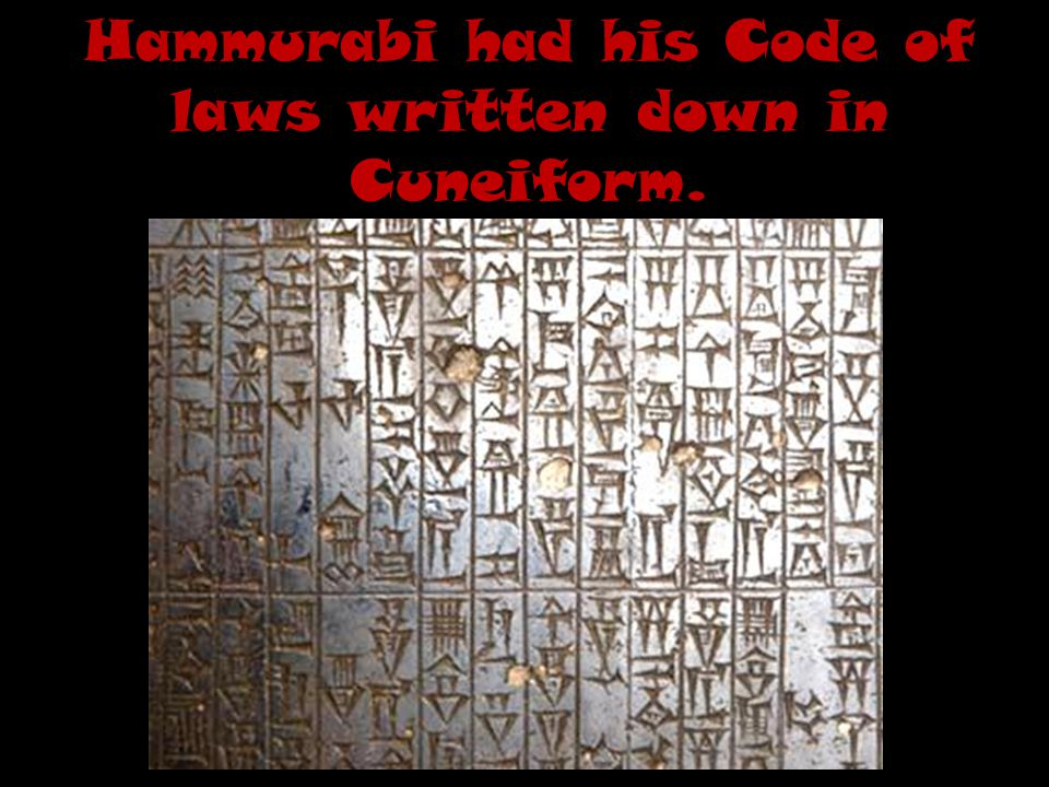 Hammurabi's Code Time for you to think and respond!