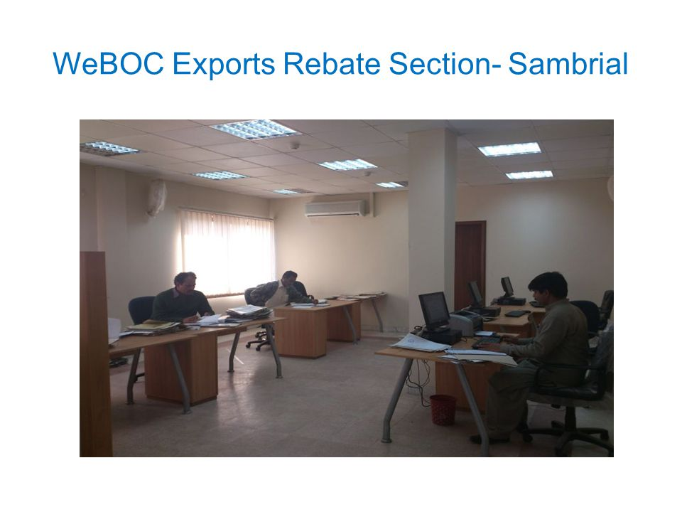 WeBOC Exports Rebate Section- Sambrial