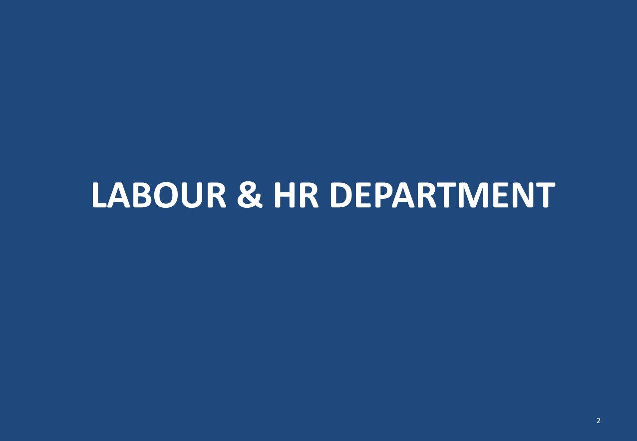 LABOUR & HR DEPARTMENT 2