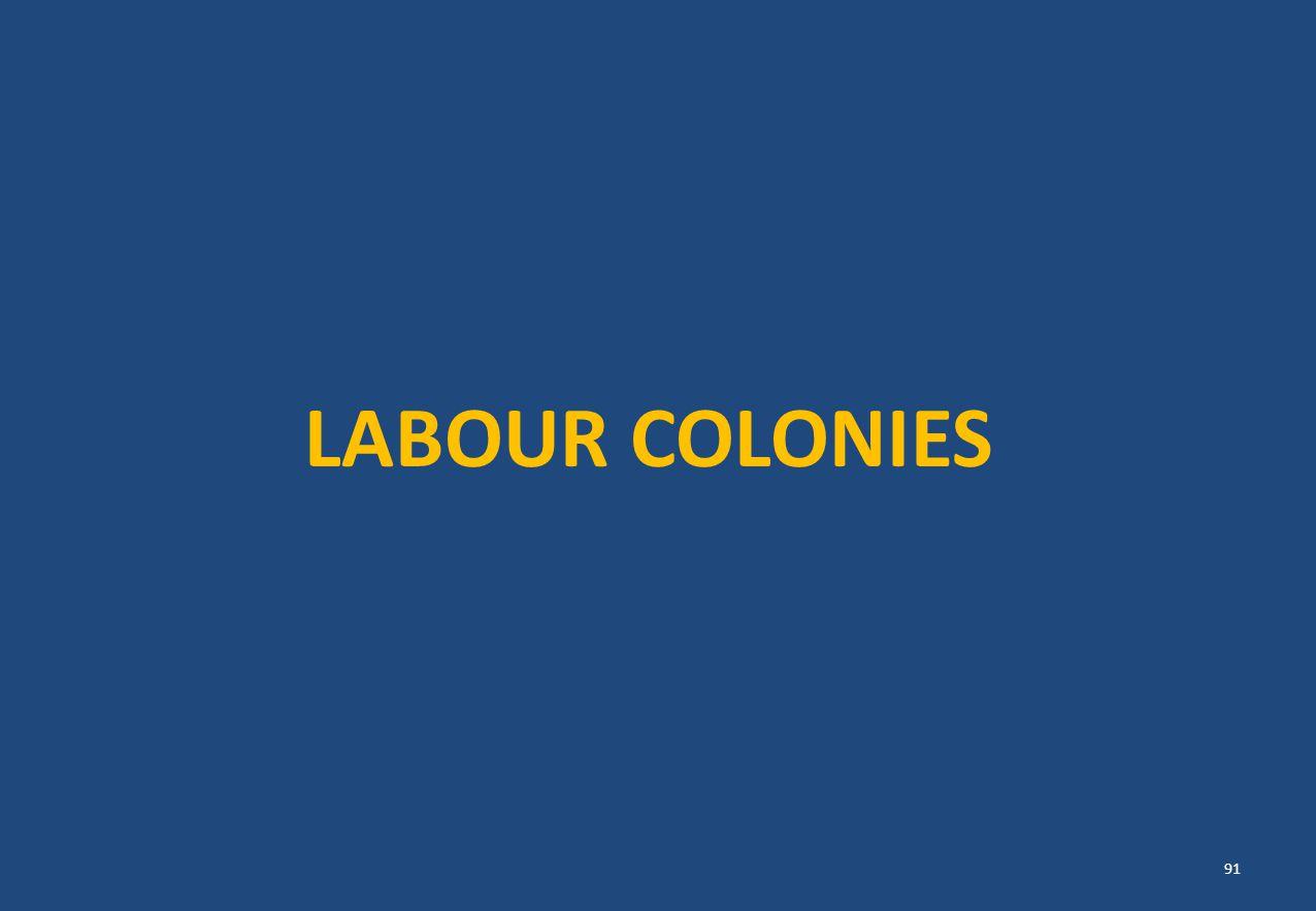 LABOUR COLONIES 91