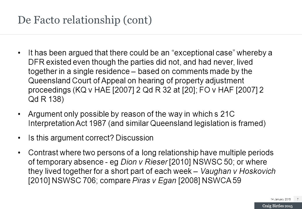 Andrew v Andrew [2011] NSWSC 115 (cont) Net distributable estate $800k.