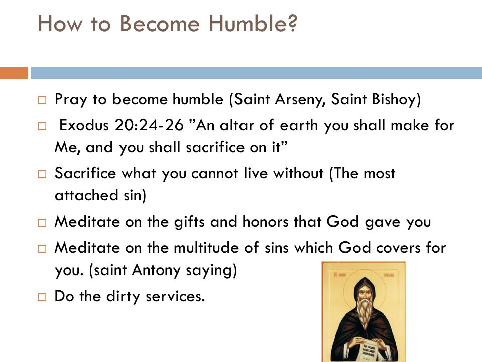 How to Become Humble.