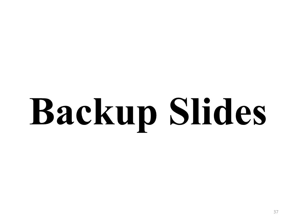 Backup Slides 37
