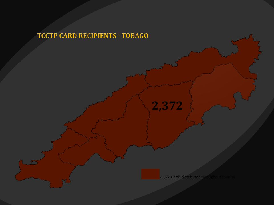 TCCTP CARD RECIPIENTS - TOBAGO 2, 372 Cards distributed throughout country 2,372 2 2,372