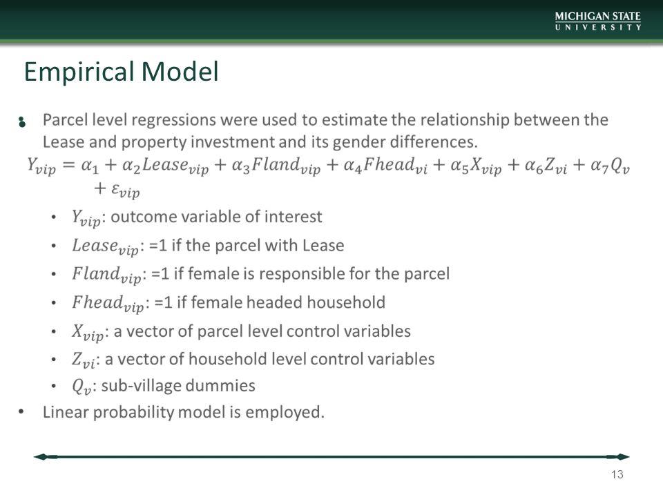 Empirical Model 13