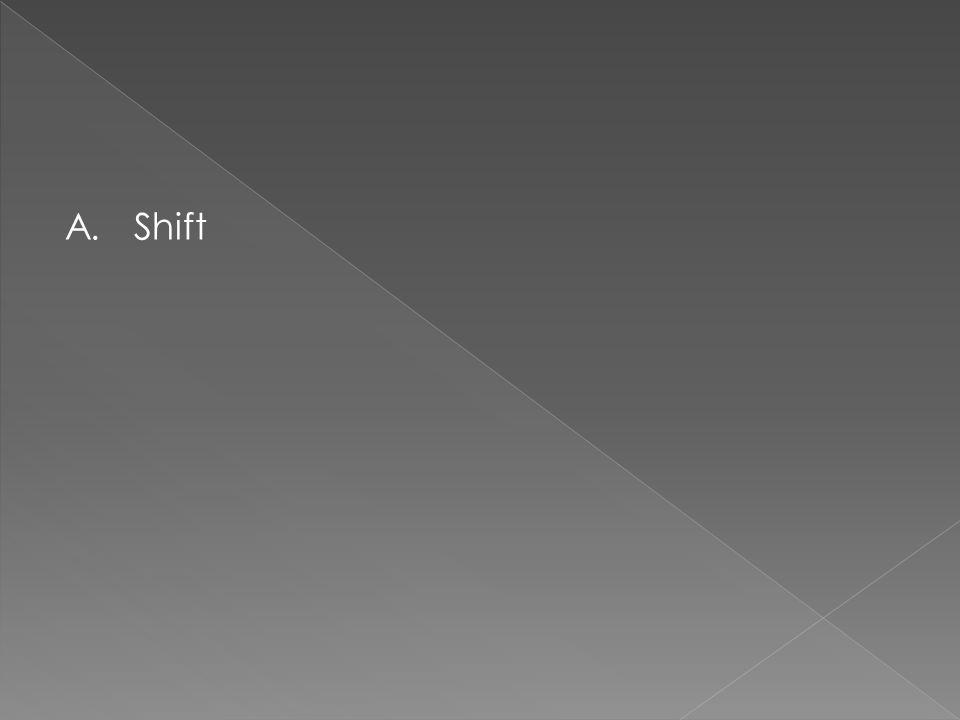 A. Shift
