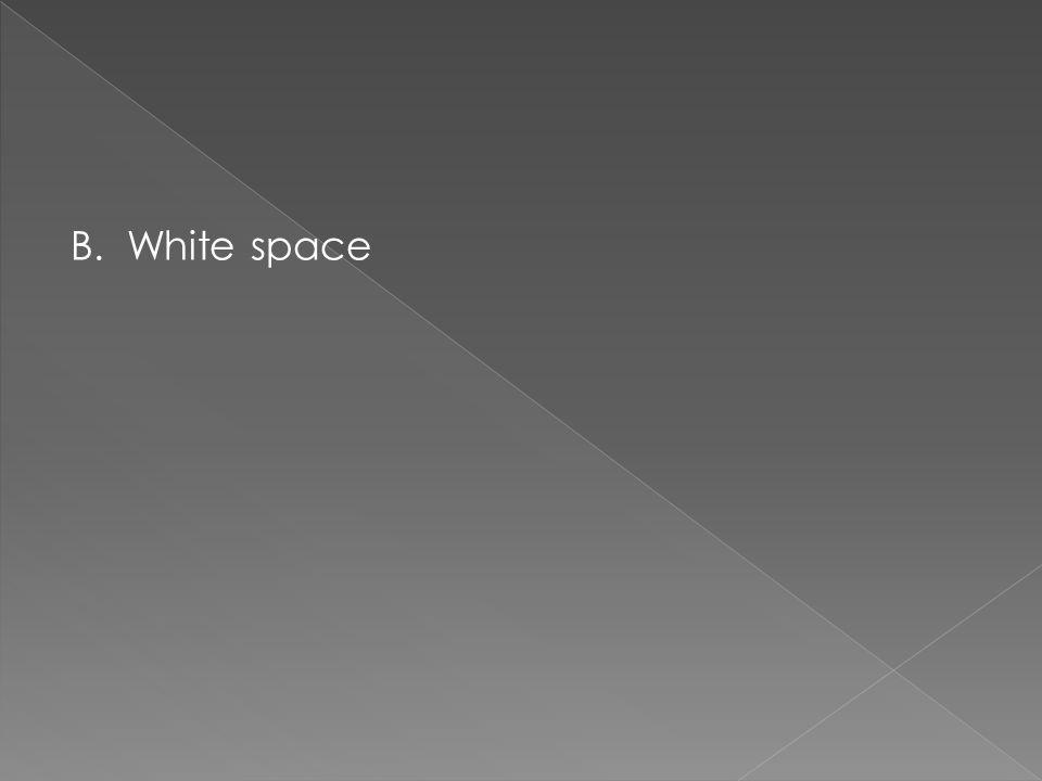 B. White space