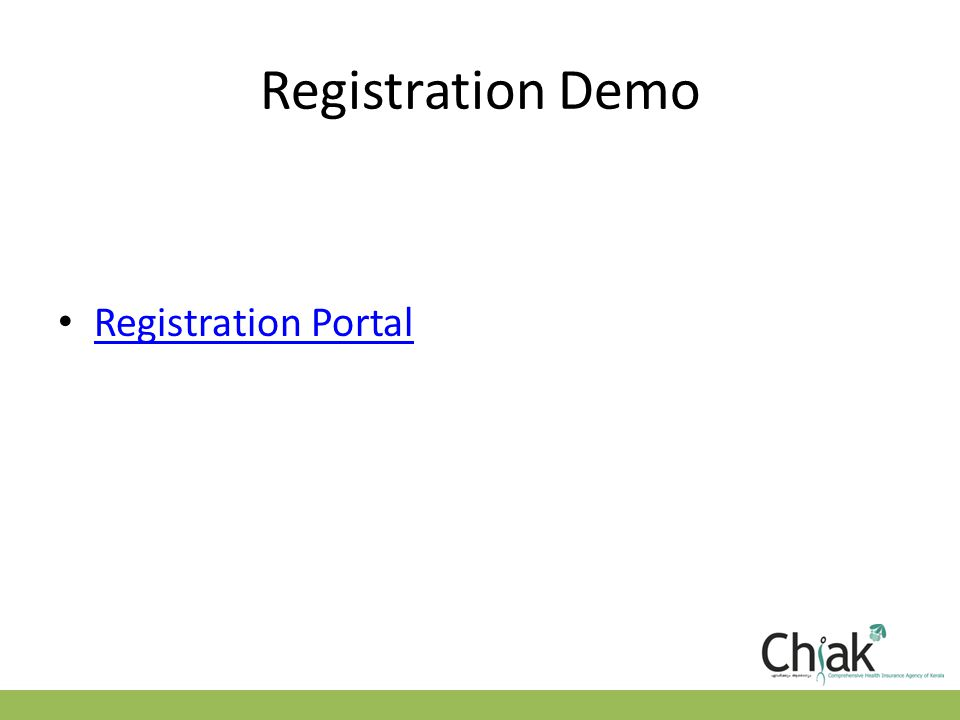 Registration Demo Registration Portal