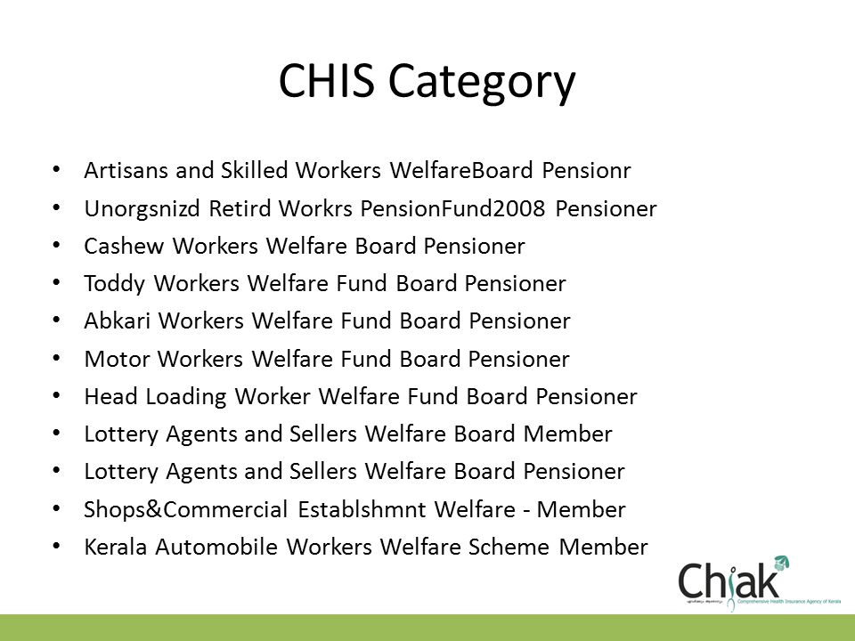 Eligibility Criteria-Points to remember For a single family single eligibility criteria is good enough to join the RSBY/CHIS.