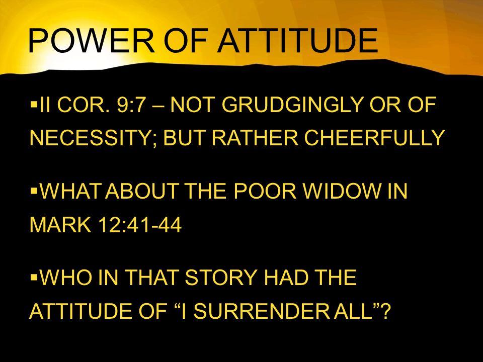 POWER OF ATTITUDE  II COR.