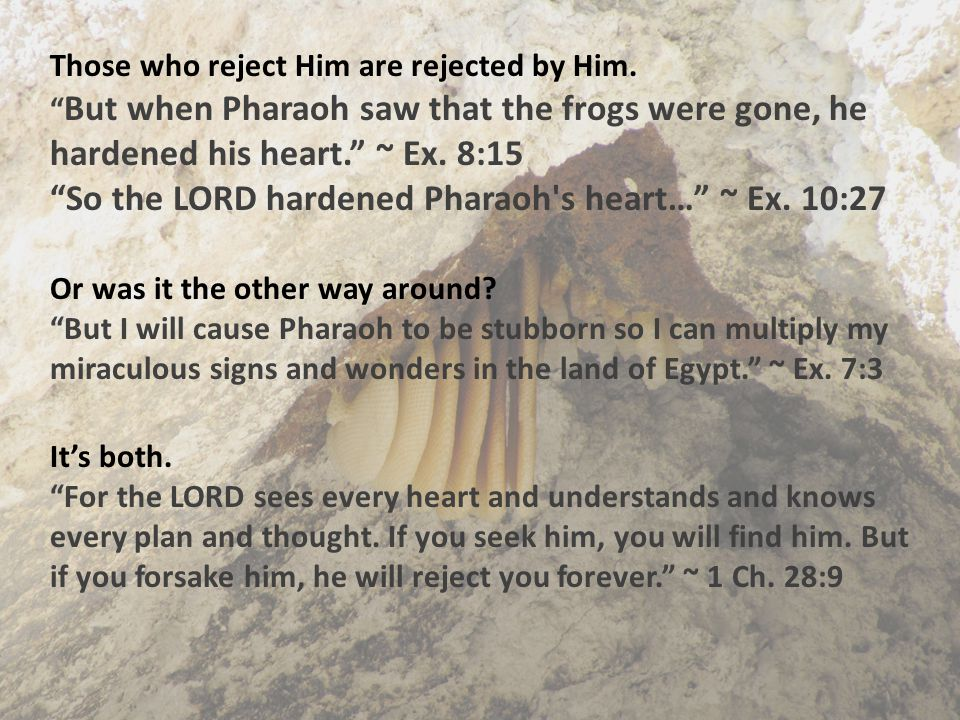 Those who reject Him are rejected by Him.