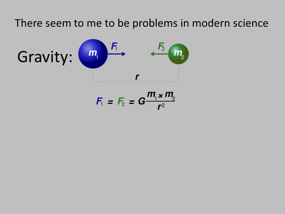 Gravity: There seem to me to be problems in modern science