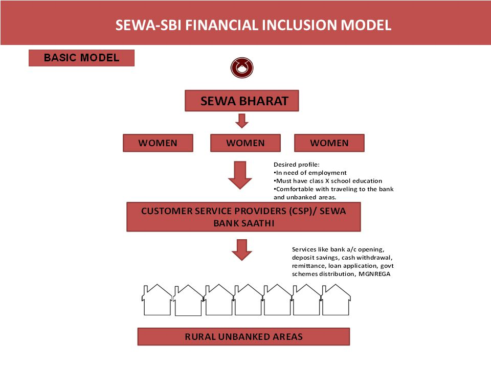 SEWA-SBI FINANCIAL INCLUSION MODEL