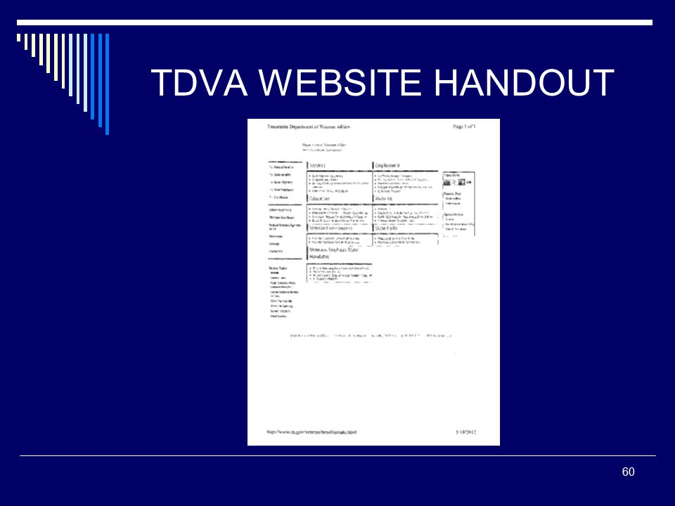 TDVA WEBSITE HANDOUT 60