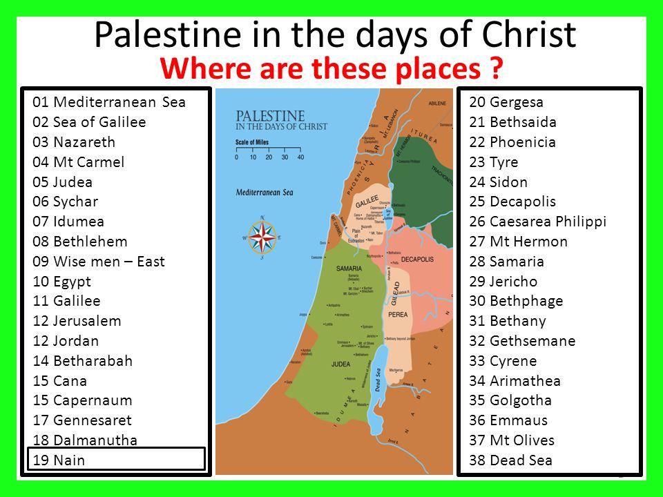 3 Palestine Region Nazareth.Mt Carmel. Bethlehem.