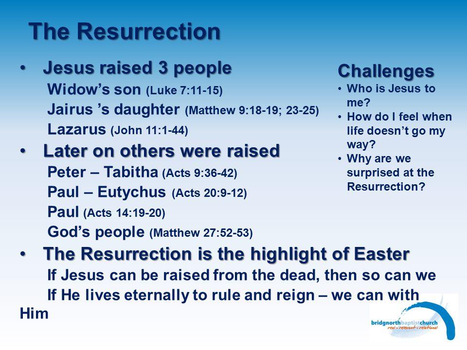 The Resurrection Myth | Magic | Miracle?Myth | Magic | Miracle? Not a conspiracyNot a conspiracy People who met JesusPeople who met Jesus Mary Magdale