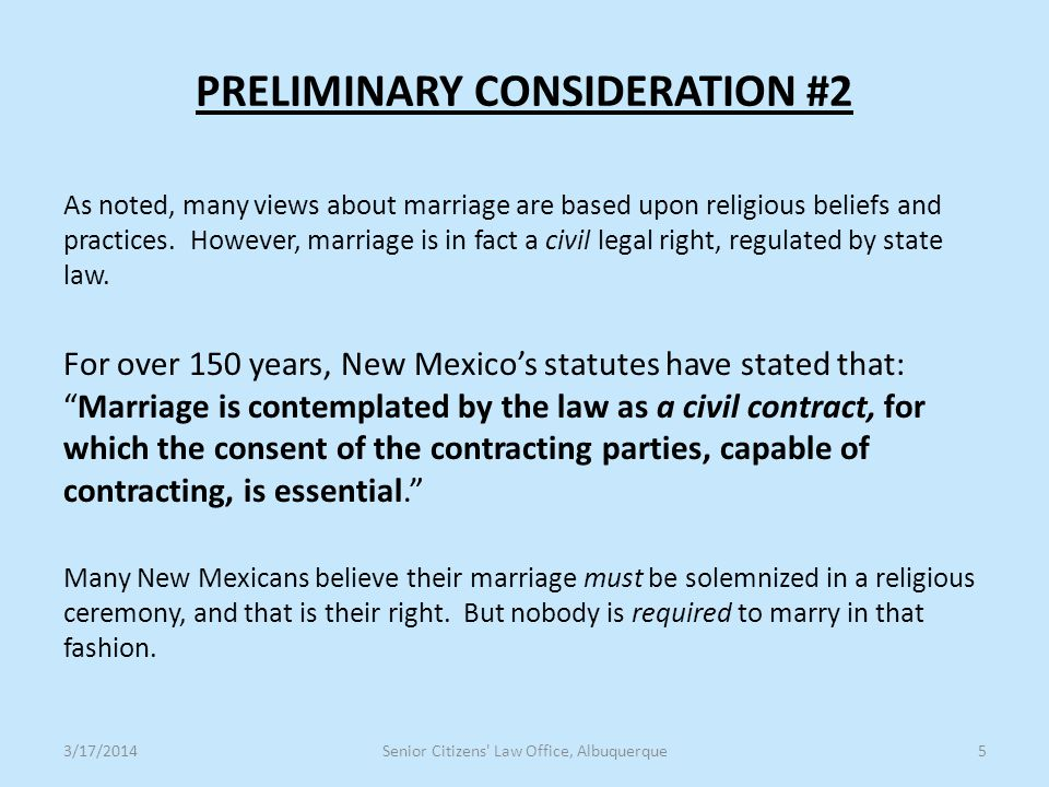 PRELIMINARY CONSIDERATION #3 This presentation uses several terms --- including same-sex marriage, recognized, legal, and lawful --- to which some people may object, preferring alternatives.