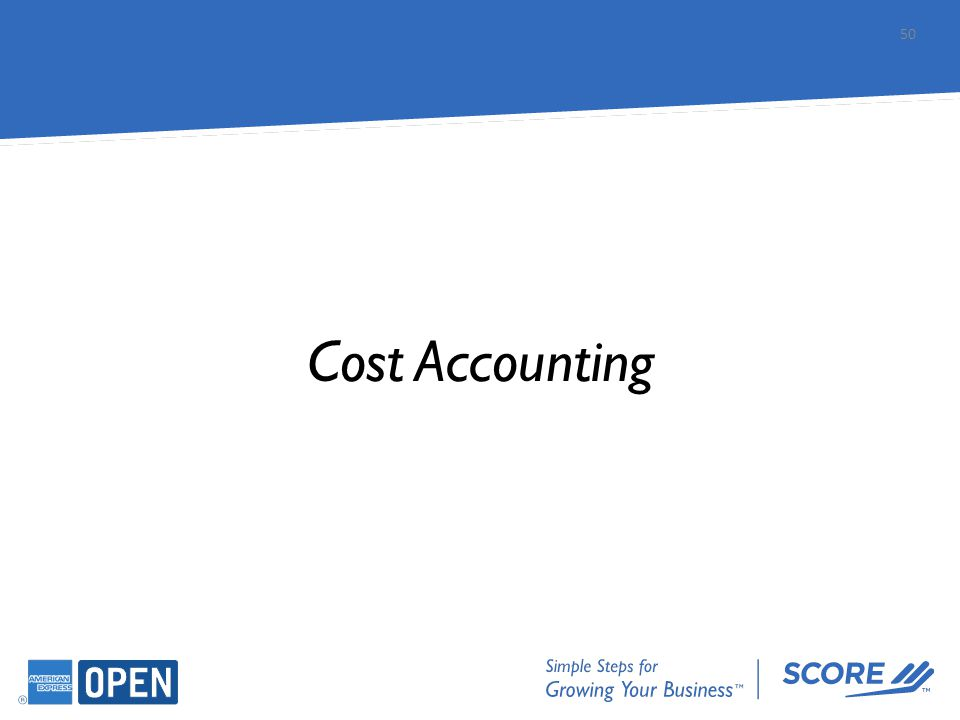 Cost Accounting 50