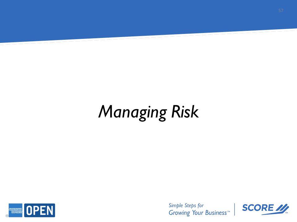Managing Risk 57