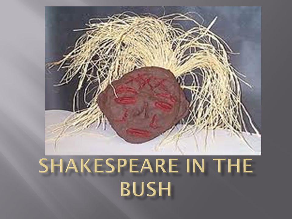  This story is a perfect example that literature is open to many interpretations  Just before leaving Oxford Laura has a discussion with a friend who claims that Americans often don't understand the true meaning of Shakespeare Hamlet, because Shakespeare was a very English poet.