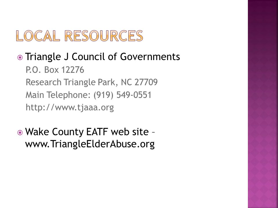  Triangle J Council of Governments P.O.