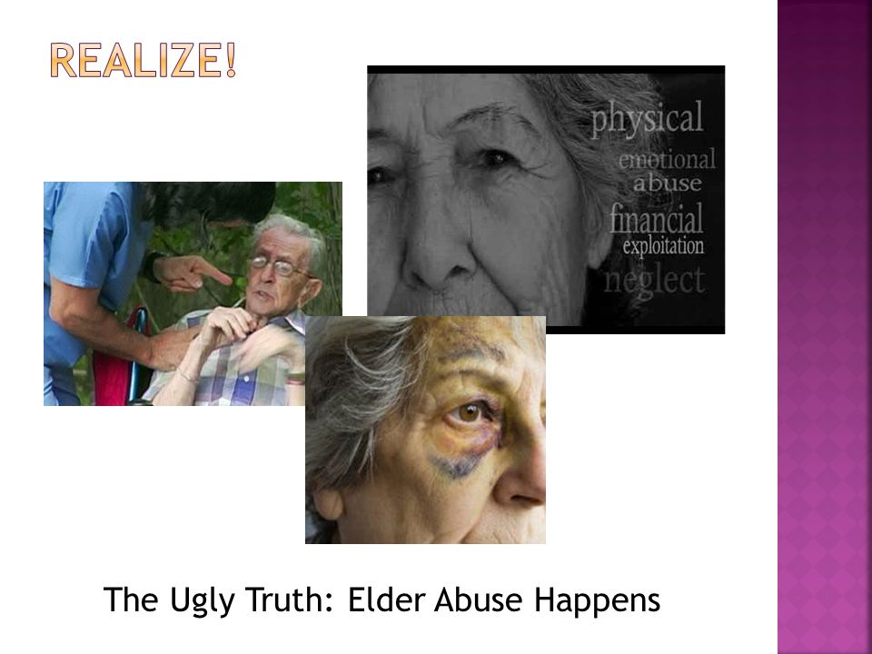  UCI Center of Excellent in Elder Abuse & Neglect: www.centeronelderabuse.org  Administration on Aging: www.aoa.gov  National Center on Elder Abuse: www.ncpea.aoa.gov  American Bar Association Commission on Lawy and Aging: www.aganet.org/aging  American society on Aging: www.asaging.org  www.generationsjournal.org  Family Caregiver Alliance: www.caregiver.org  Clearinghouse on Abuse and Neglect of the Elderly: http://db.rdms.udel.edu:8080/CANE  AARP: www.aarp.org