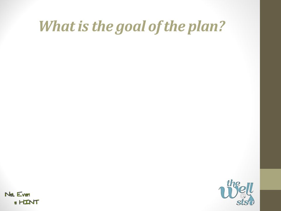 What is the goal of the plan?