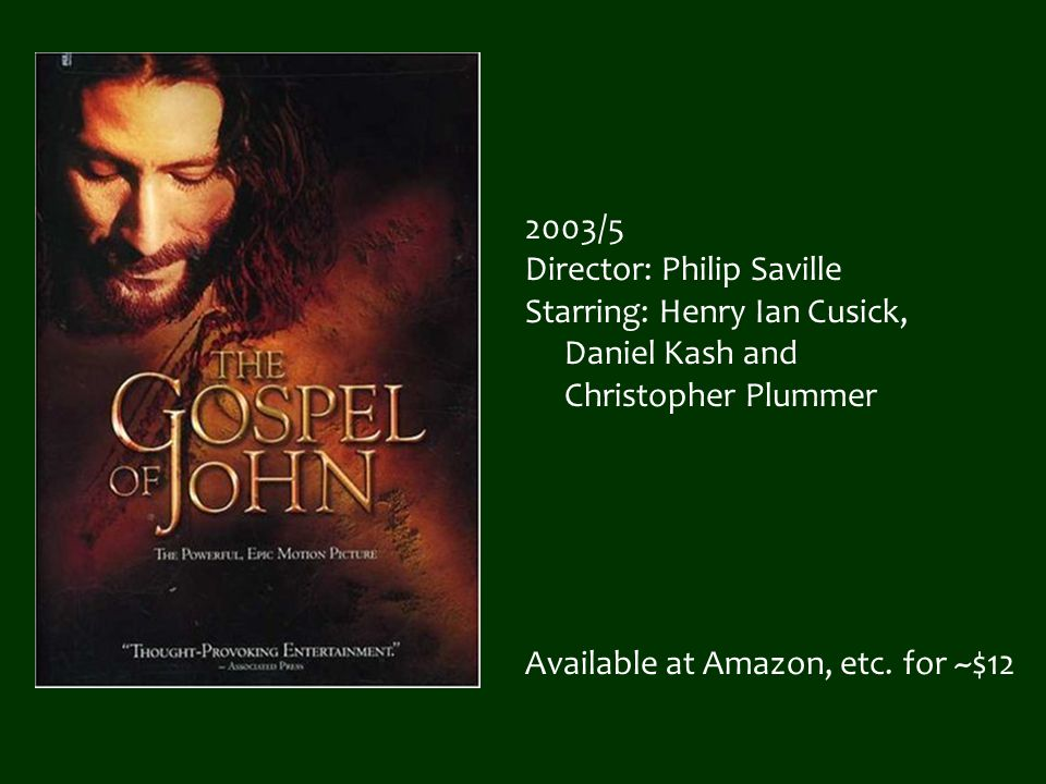 2003/5 Director: Philip Saville Starring: Henry Ian Cusick, Daniel Kash and Christopher Plummer Available at Amazon, etc. for ~$12